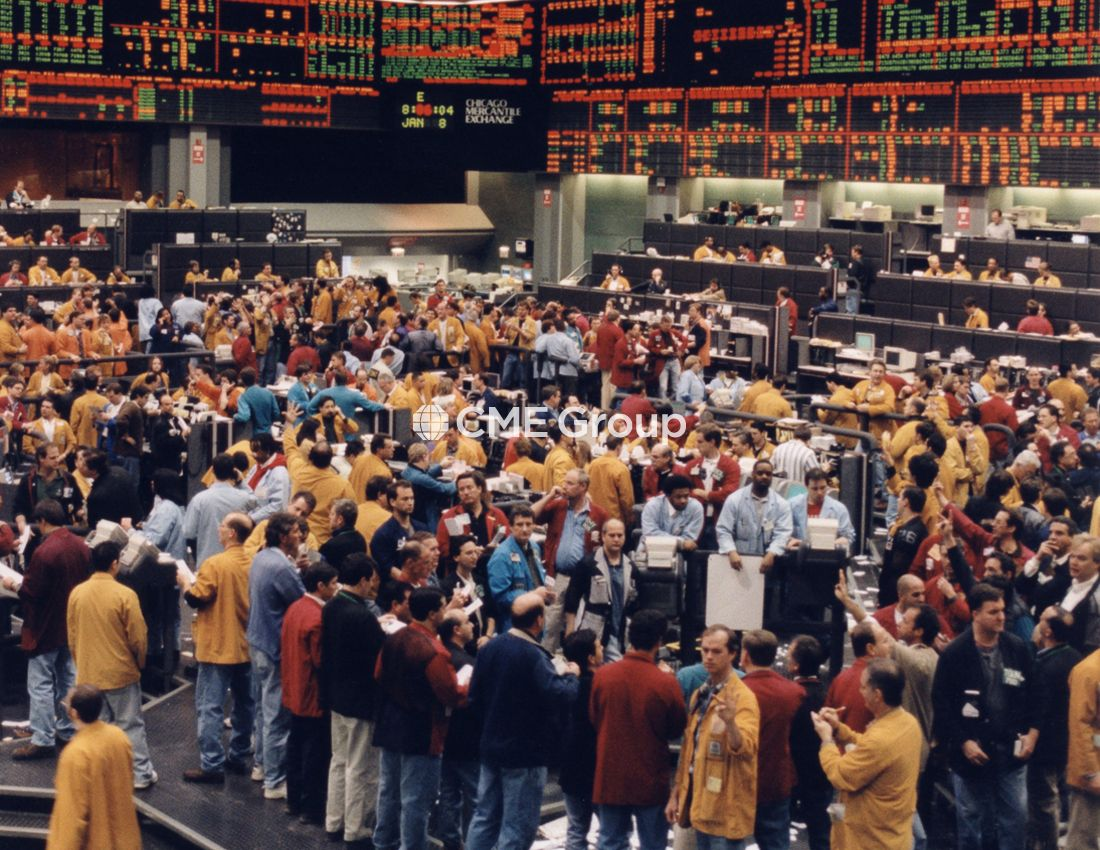 Historical Photo Trading Pit Commodity Trading Stock Exchange
