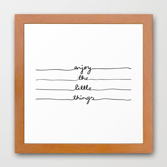 """Little Things"" Framed Art Print by Mareike B& #246;hmer Graphics on Society6 