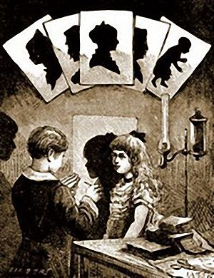 Illustration of Victorian Silhouette Portrait Drawing. A silhouette of a loved one makes a wonderful keepsake.