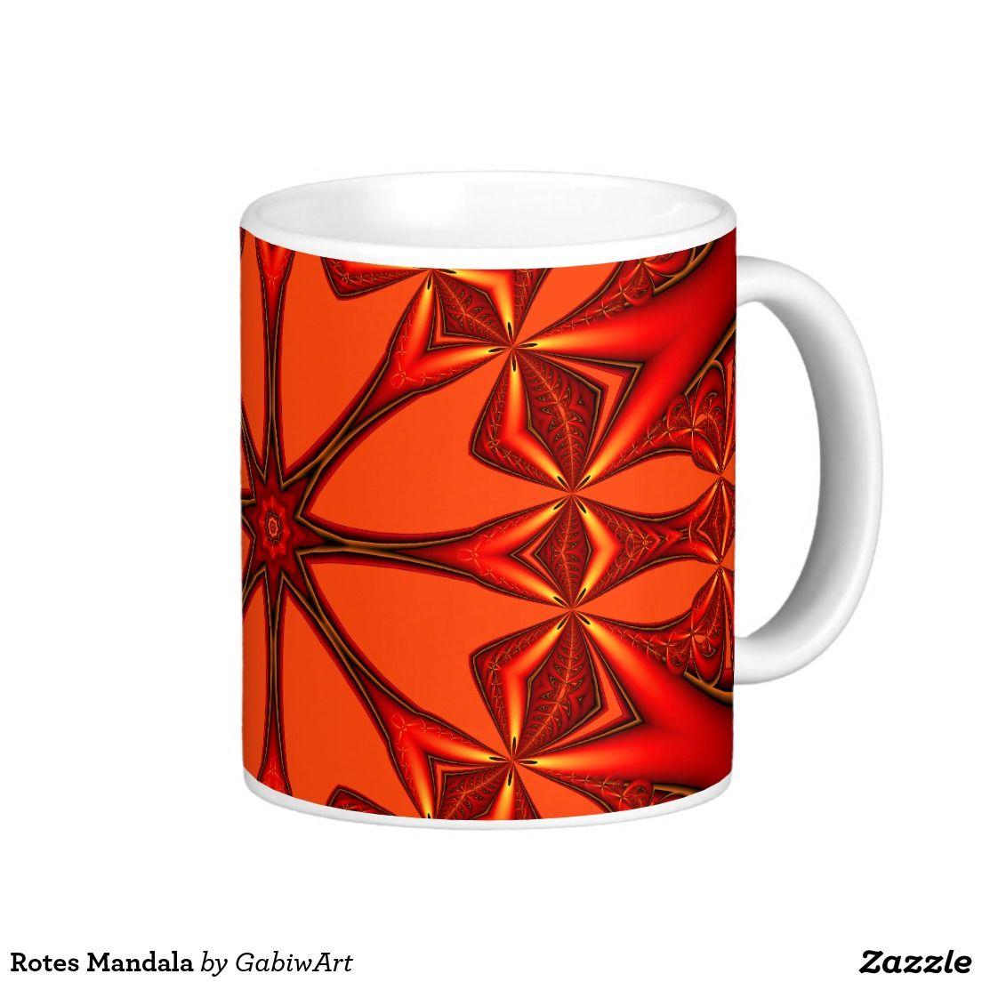Red Mandala Coffee Mug