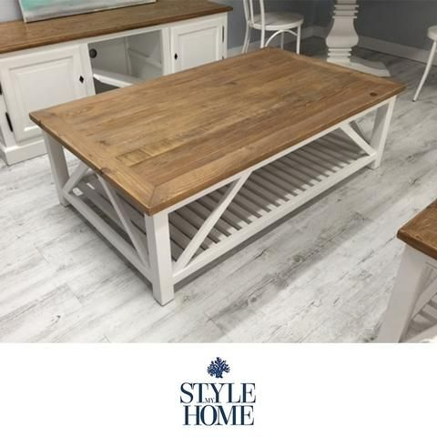 AVALON Recycled Wood White Beach Base Coffee Table By Style My Home  Australia SYDNEY HAMPTONS COUNTRY