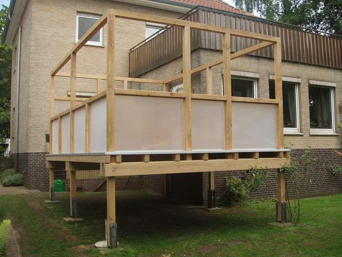 hochterrasse balkon auf golocalde aus stein selber bauen