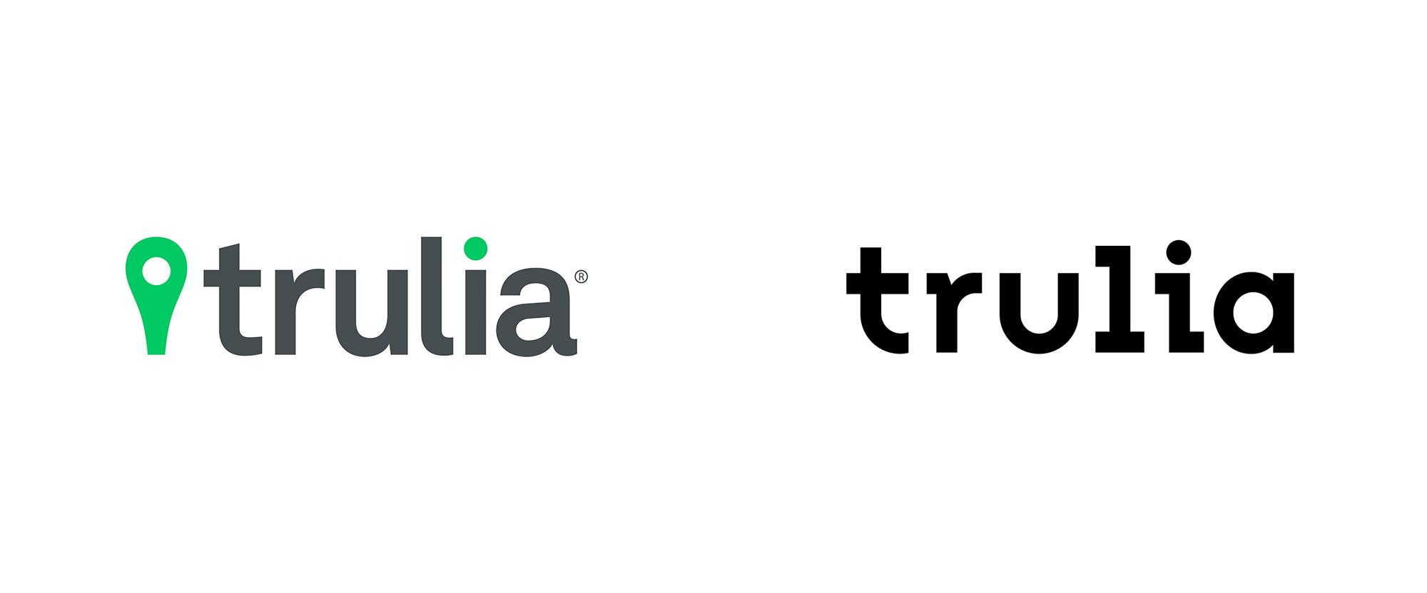 New Logo And Identity For Trulia By Design Studio Word Mark Logo Identity Logo Marker Icon