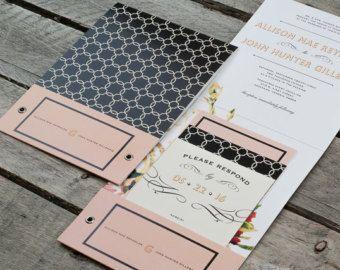 Southern Charm Pocket Wedding Invitation Suite Sample Set