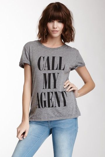 Call My Agent Schiffer Tee by Local Celebrity on @HauteLook