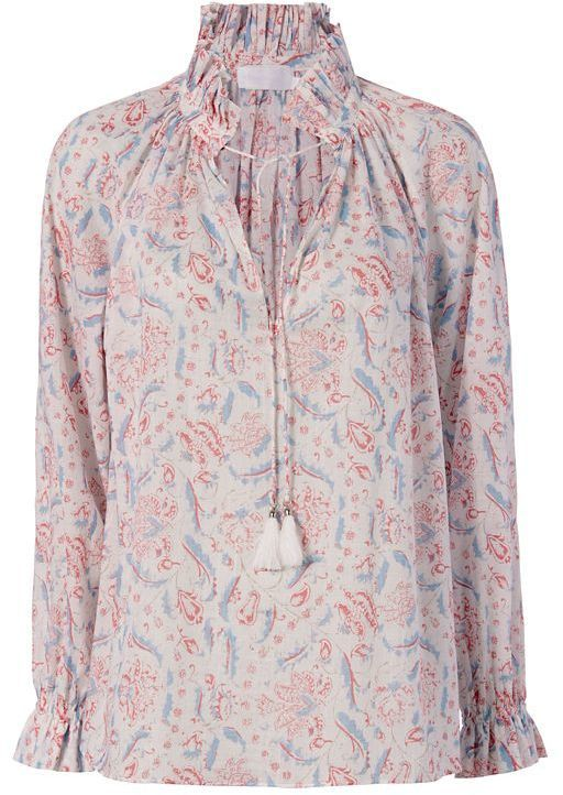 Zimmermann Zephyr Floral Print Blouse   INTERMIX saved by #ShoppingIS