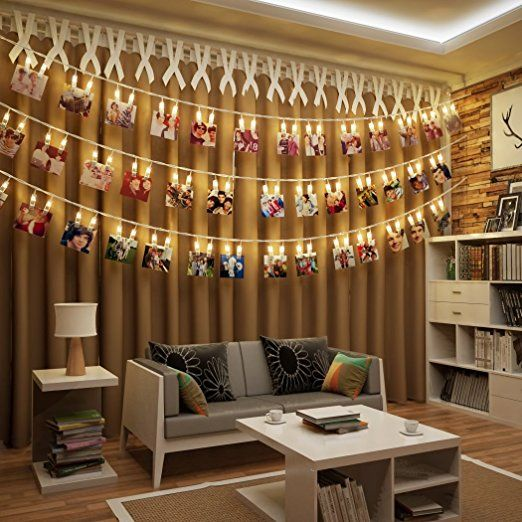 B.K.Licht LED Fotolichterkette Photoclips Clip Bilder Lichterkette 40 LEDs:  Amazon.de: Beleuchtung