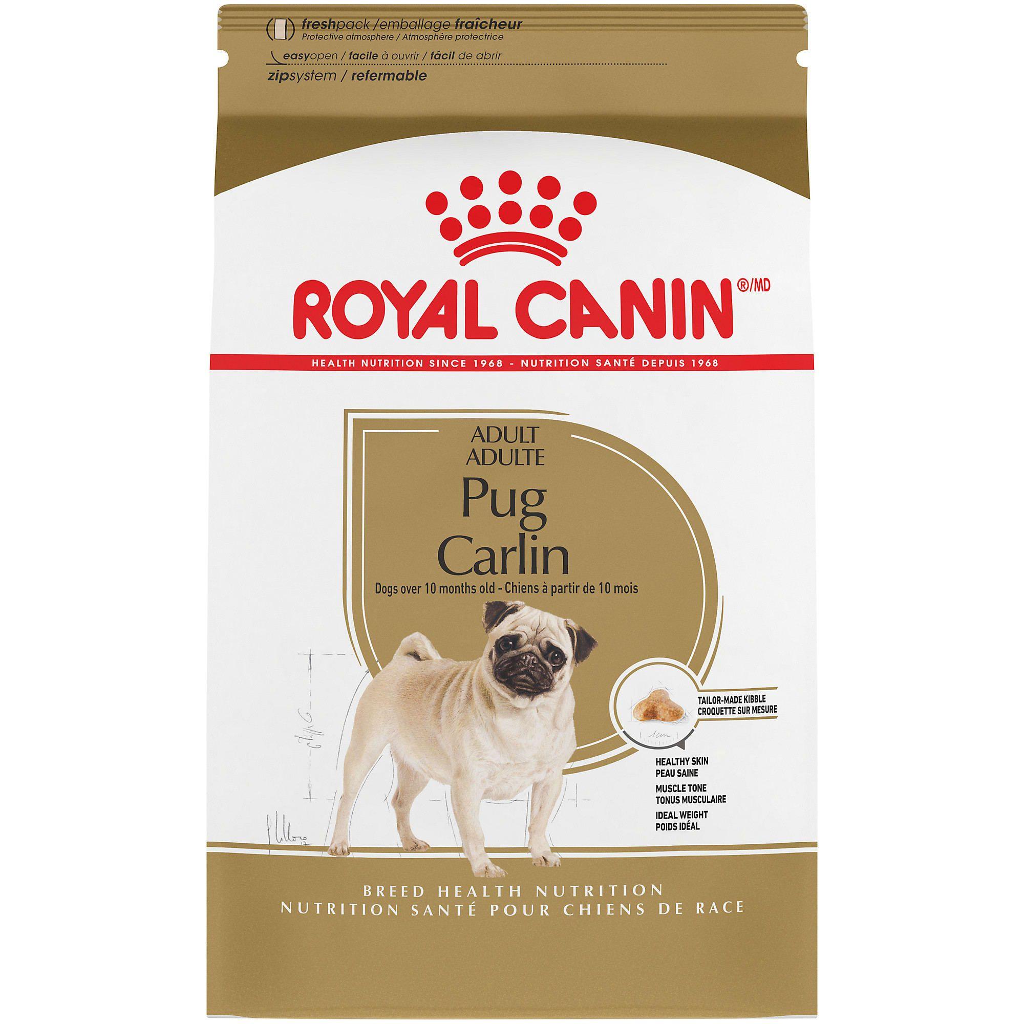 Royal Canin Breed Health Nutrition Pug Adult Dry Dog Food 10 Lbs