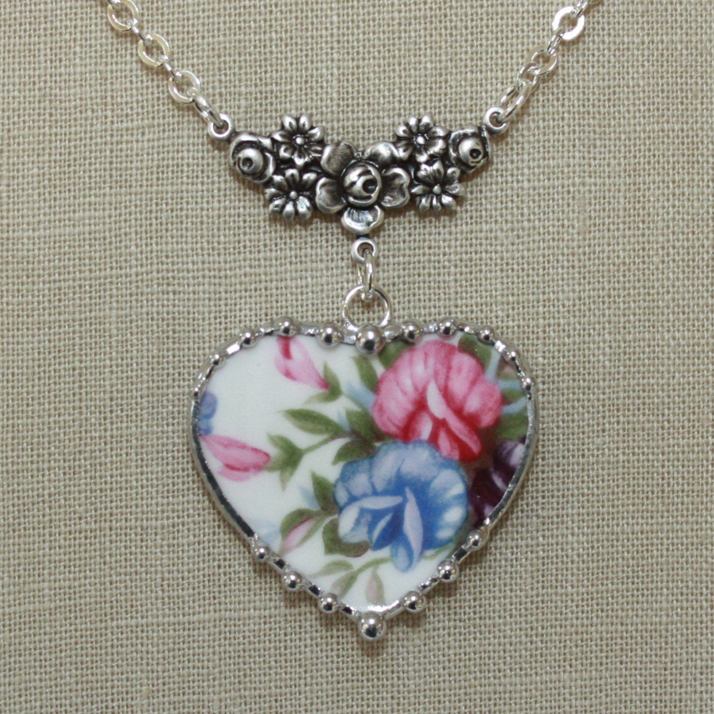 Broken china necklace from nj broken china jewelry