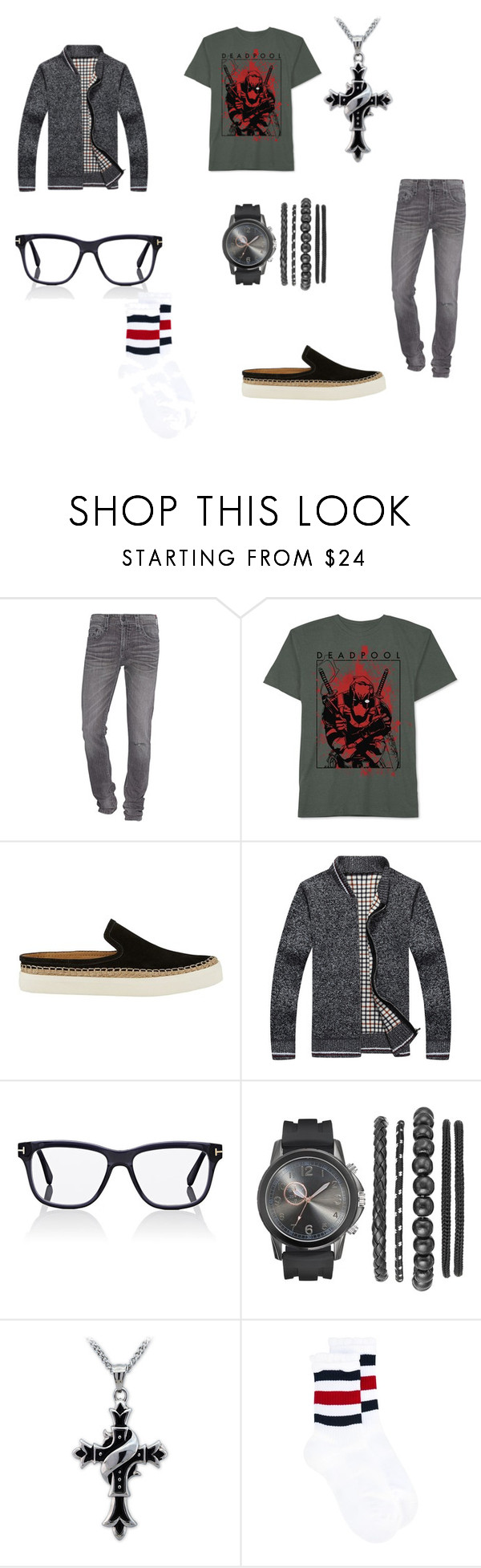 """""""b r e a t h e"""" by juno009 ❤ liked on Polyvore featuring True Religion, JEM, G.H. Bass & Co., Tom Ford, Gucci, men's fashion and menswear"""