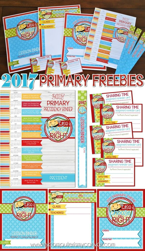 2017 Primary Printables - FREEBIES! | LDS, Domingo y Imprimibles