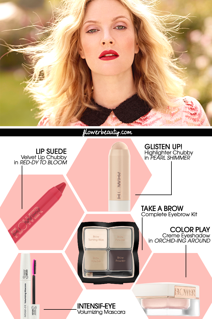 Get The Look Drew Barrymore Wearing Only Flower Beauty
