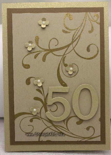 Und Noch Mal Eine Karte Zur Goldenen Hochzeit Karte