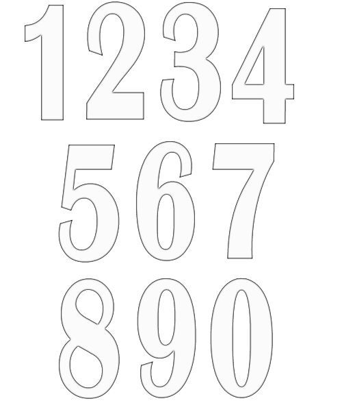 numbers clipart image 10 Shape Templates Pinterest Clipart - numbers templates free