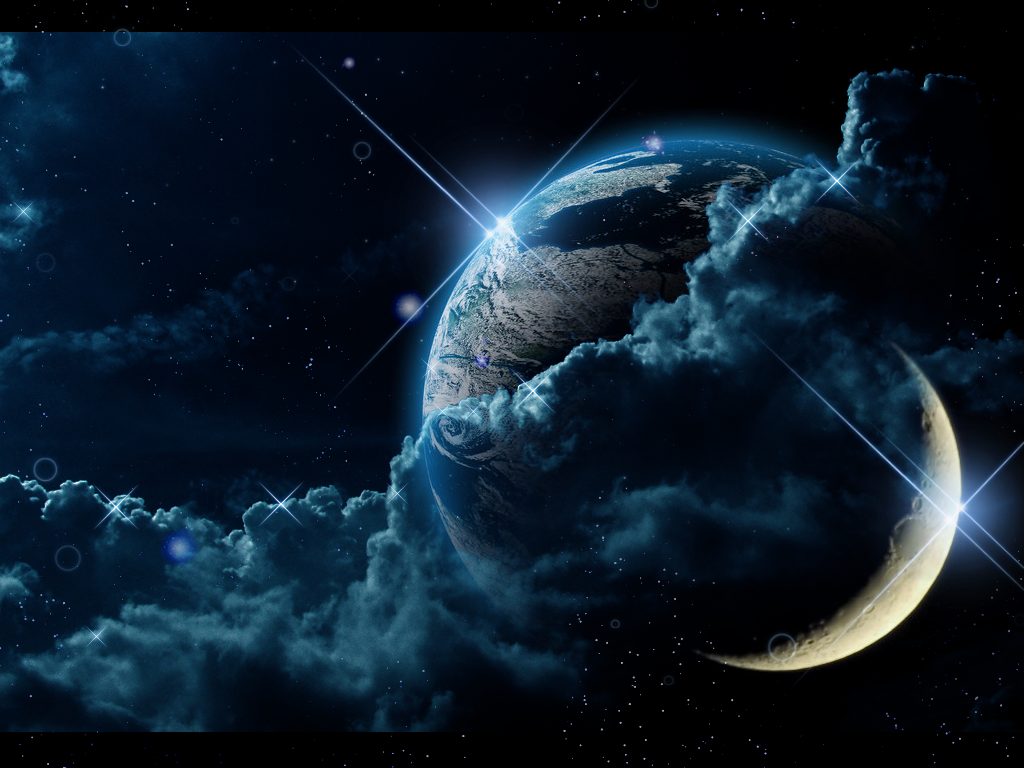 Earth Science Powerpoint Backgrounds Abstract Earth With Moon