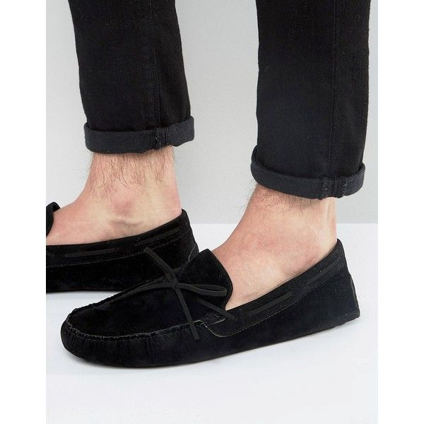 Chaussures En Daim Conduite Asos Noir Avant Cravate - Noir vL7V0Sf