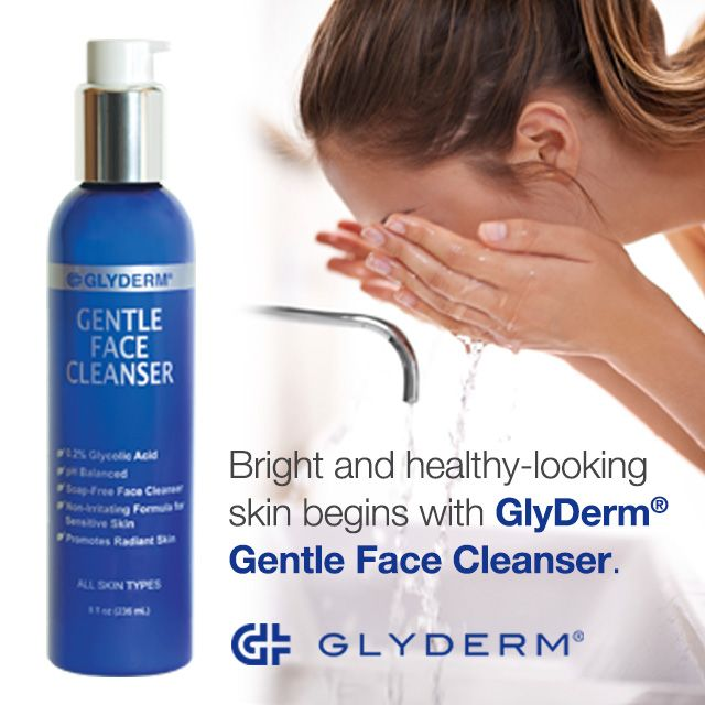 GlyDerm Gentle Cleanser 0.2% (8oz) 4 Pack - Dermal Therapy Finger Care 0.60 oz