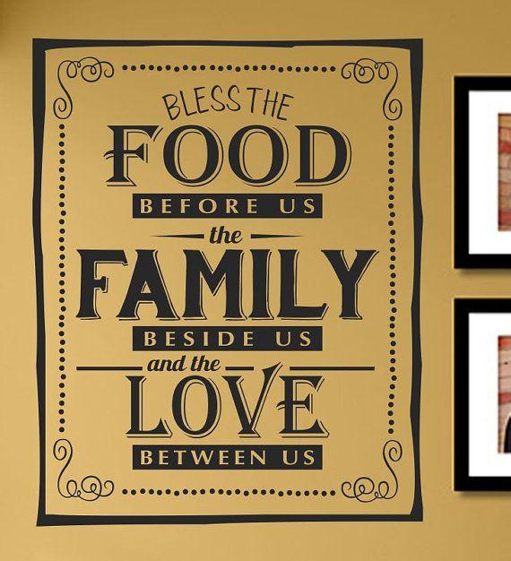 Slap-Art™ Bless the Food Before Us Vinyl Wall by VinylMasterpieces ...