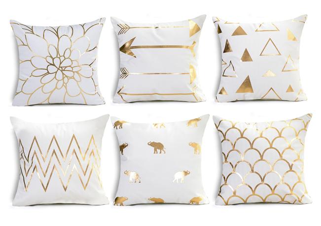 White And Gold Throw Pillows White Throw Pillows Black Throw Pillows Gold Throw Pillows