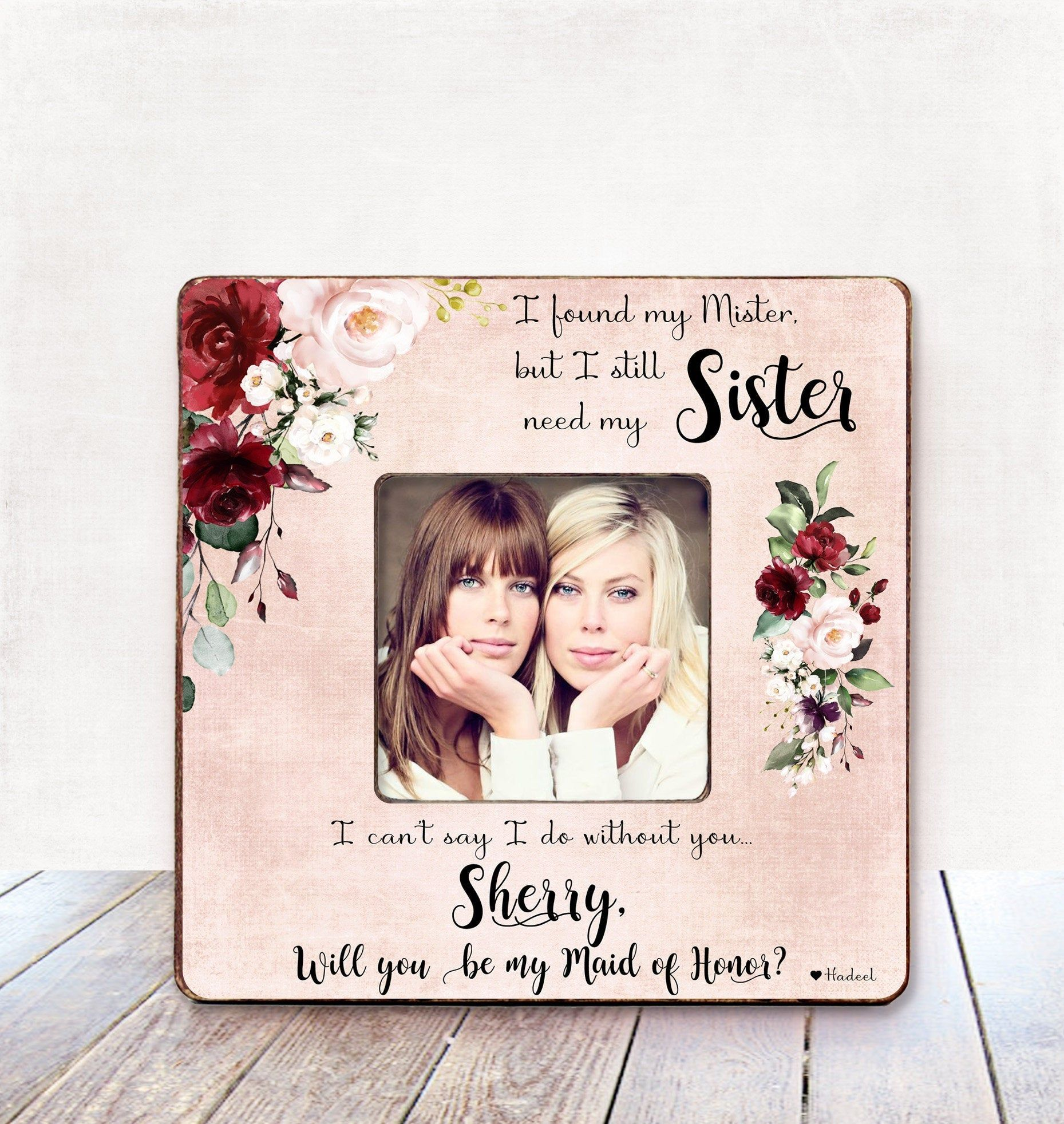 Maid Of Honor Proposal Sister Maid Of Honor Proposal Gift