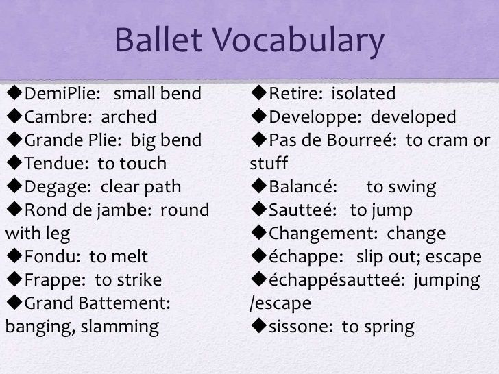 Image result for ballet dictionary