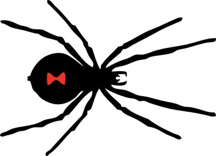 Black Widow Spider clip art