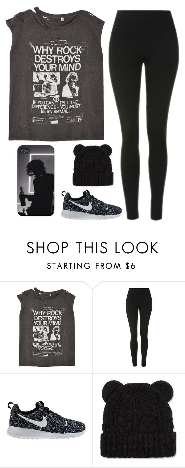 """""""Untitled #1677"""" by chill-outfits ❤ liked on Polyvore featuring R13, Topshop and NIKE"""