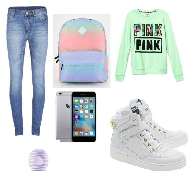 """Untitled #1"" by as-gabriele-1 ❤ liked on Polyvore featuring interior, interiors, interior design, home, home decor, interior decorating, Victoria's Secret, Cheap Monday, Moschino and Vans"