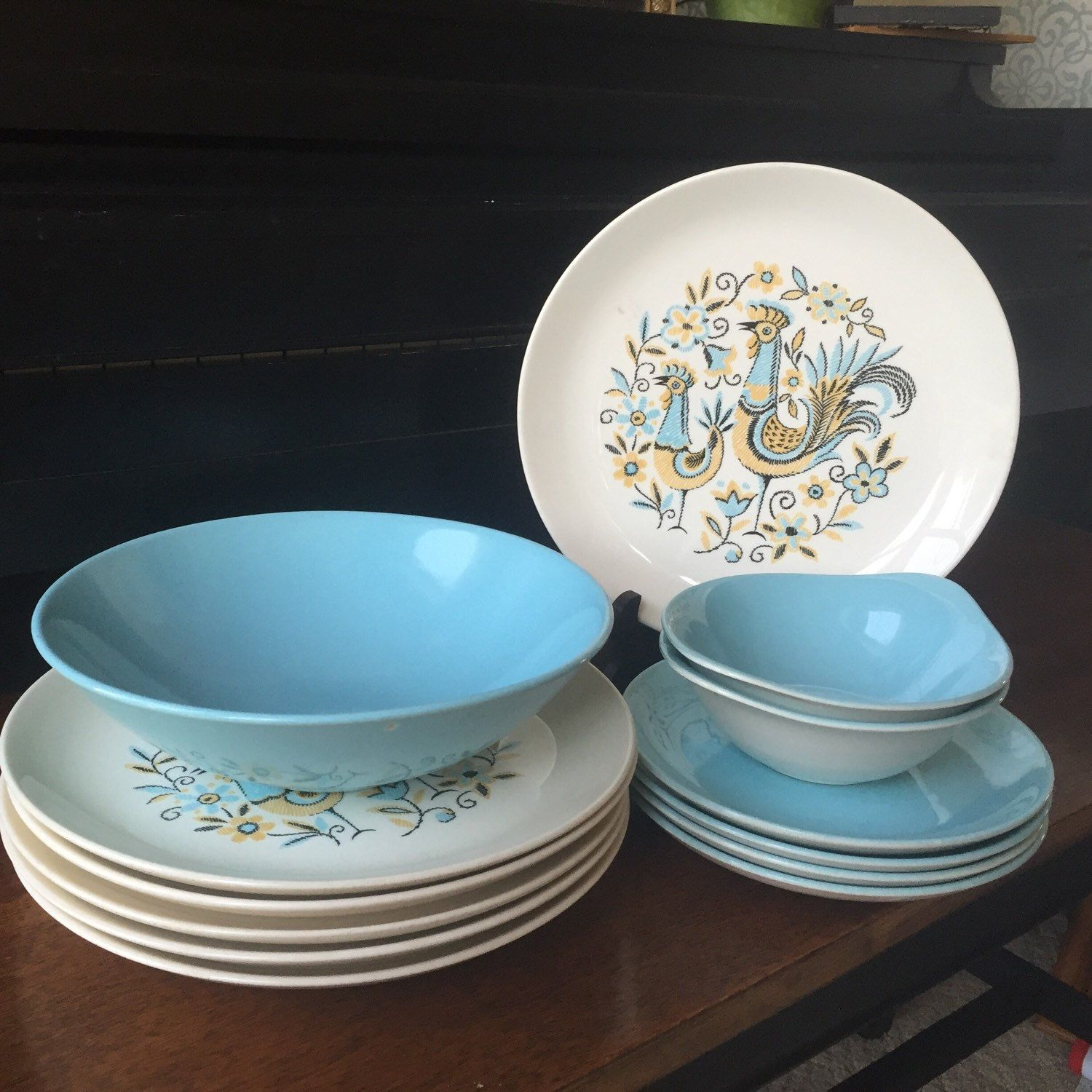 Look at these beautiful Peacock Garden Dishes by Steubenville!! We also have the matching platter AND creamer and sugar for sale in our shop. Check them out!