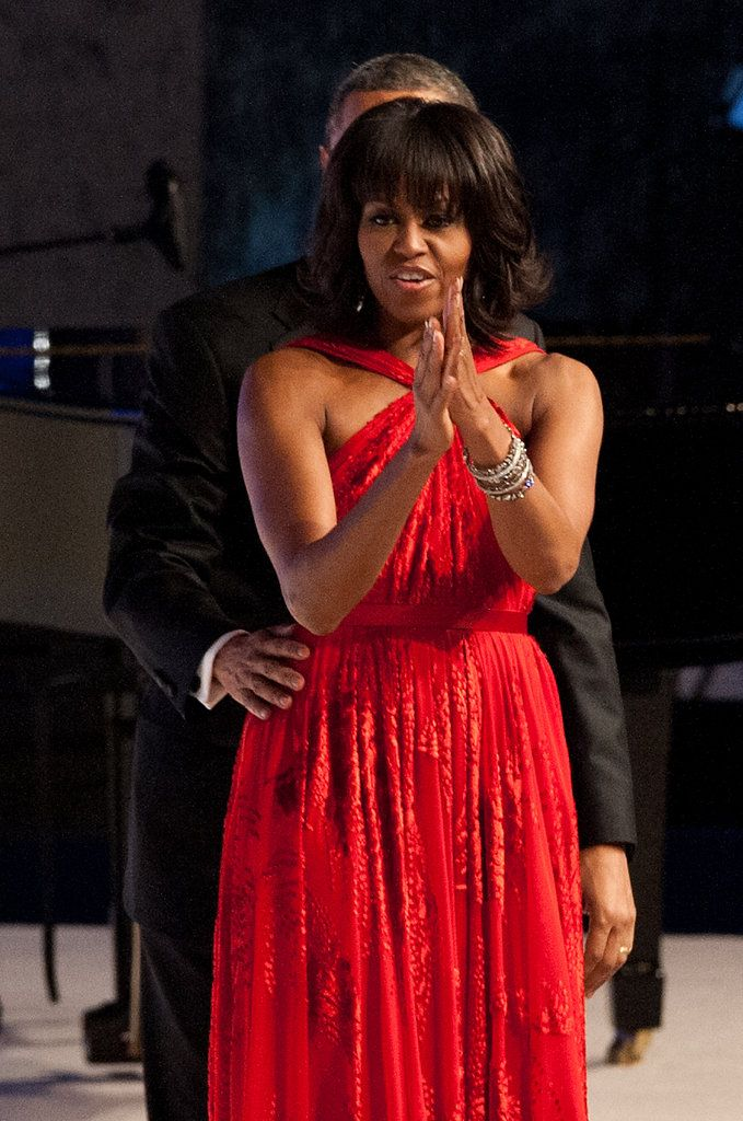 Lady in Red: Michelle Is Barack's Belle of the Inaugural