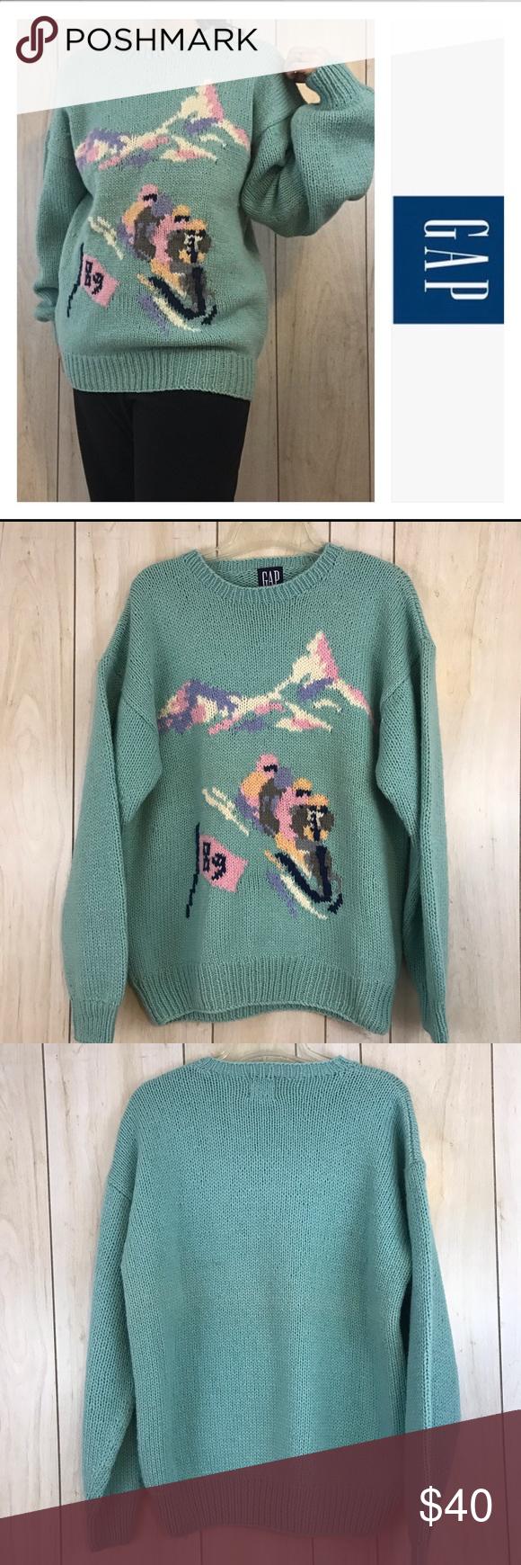 a2f59837b Vintage GAP Sledding Oversized Wool Sweater