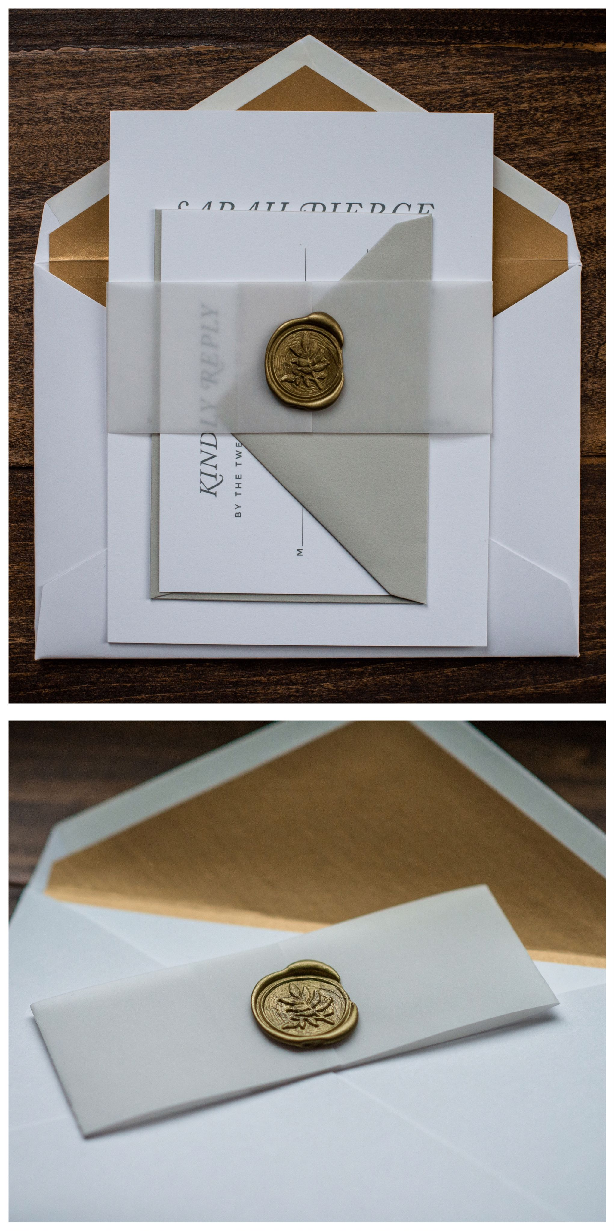 Vellum Wedding Invitation By Penn Paperie With Belly Band And Wax Seal Vellum Bel Origami Wedding Invitations Belly Band Invitation Wedding Invitation Paper