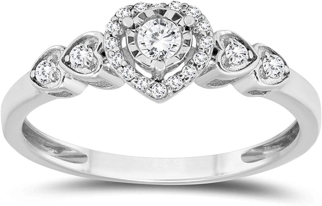 1 5 Carat Tw Diamond Engagement Promise Ring In 10k White Gold Price 199 00 30 Day Money Back Guarantee 60 Day Co Diamond Engagement Diamond Promise Rings