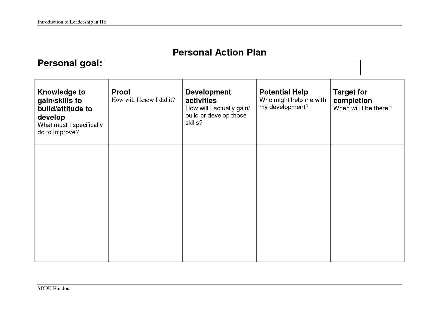 Valid Personal Business Plan Template Business plan