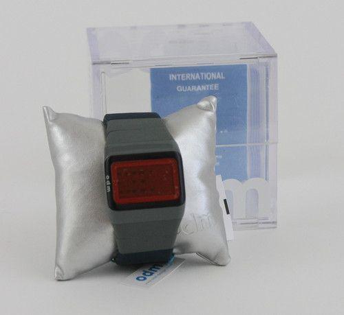 ODM Design Blue & Gray Link Watch w/ Personalized Message NIB