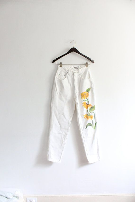 White Sunflower Grunge Babe 90s Jeans   Fashion, Clothes ...