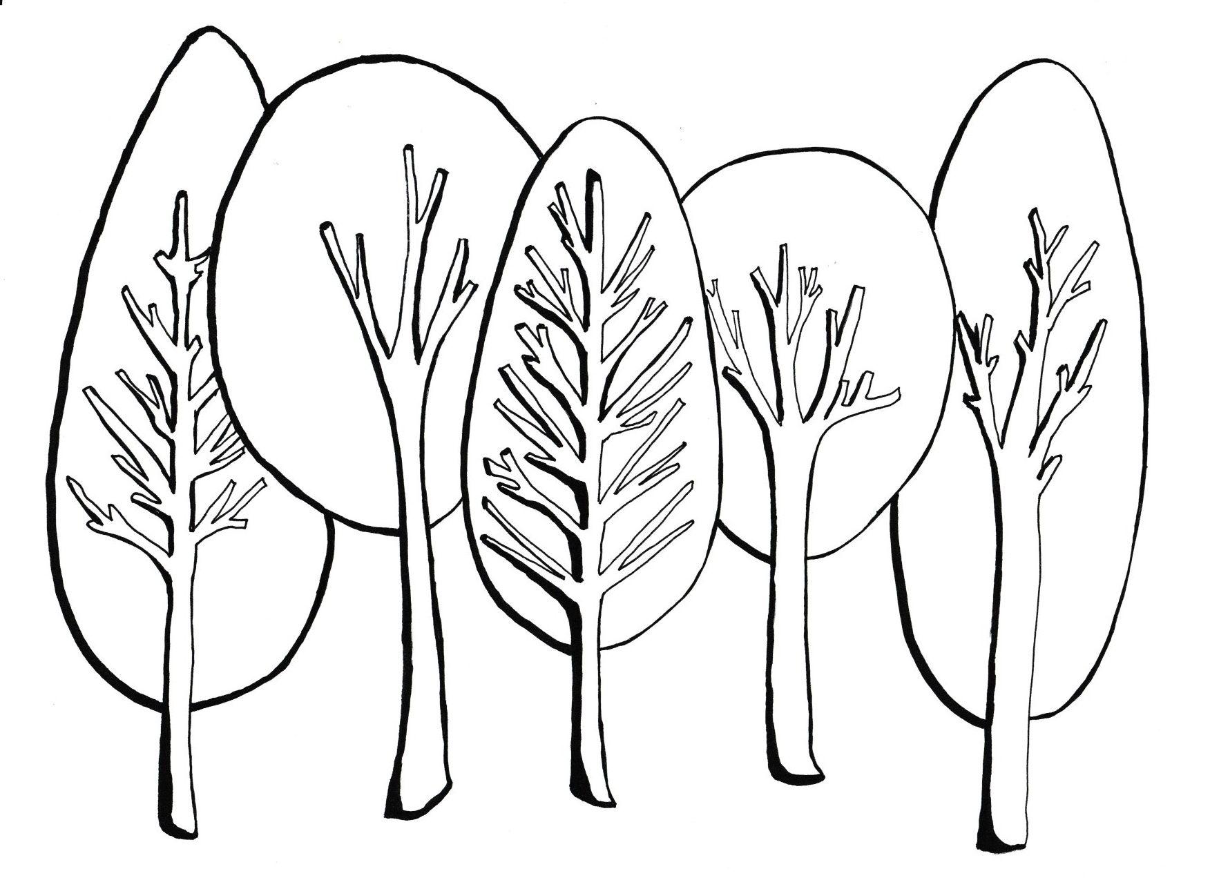 Drzewa Rysunek Kolorowanki Moje Dzieci Kreatywnie Arts And Crafts Graphic Art