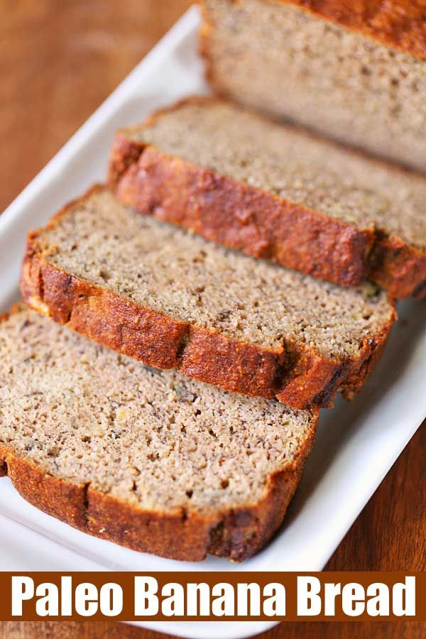 Almond Flour Banana Bread #healthyrecipes