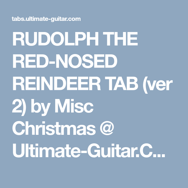 RUDOLPH THE RED-NOSED REINDEER TAB (ver 2) by Misc Christmas ...