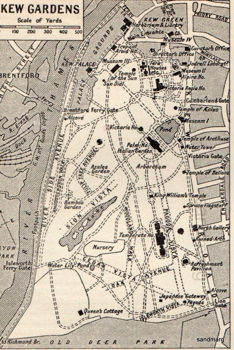 1911 Map Of Kew Gardens London Calling Kew Gardens Kew