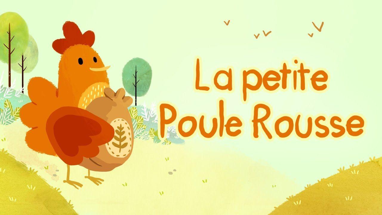 La Petite Poule Rousse Un Joli Dessin Animé Parsemé De