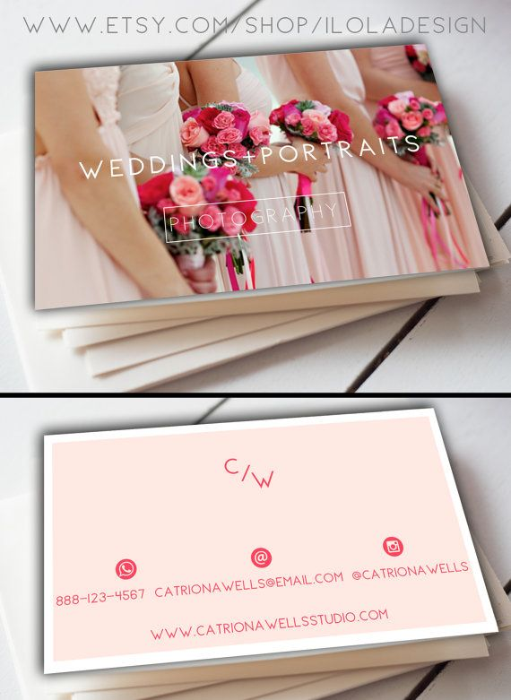Photographer business card template modern business by iloladesign