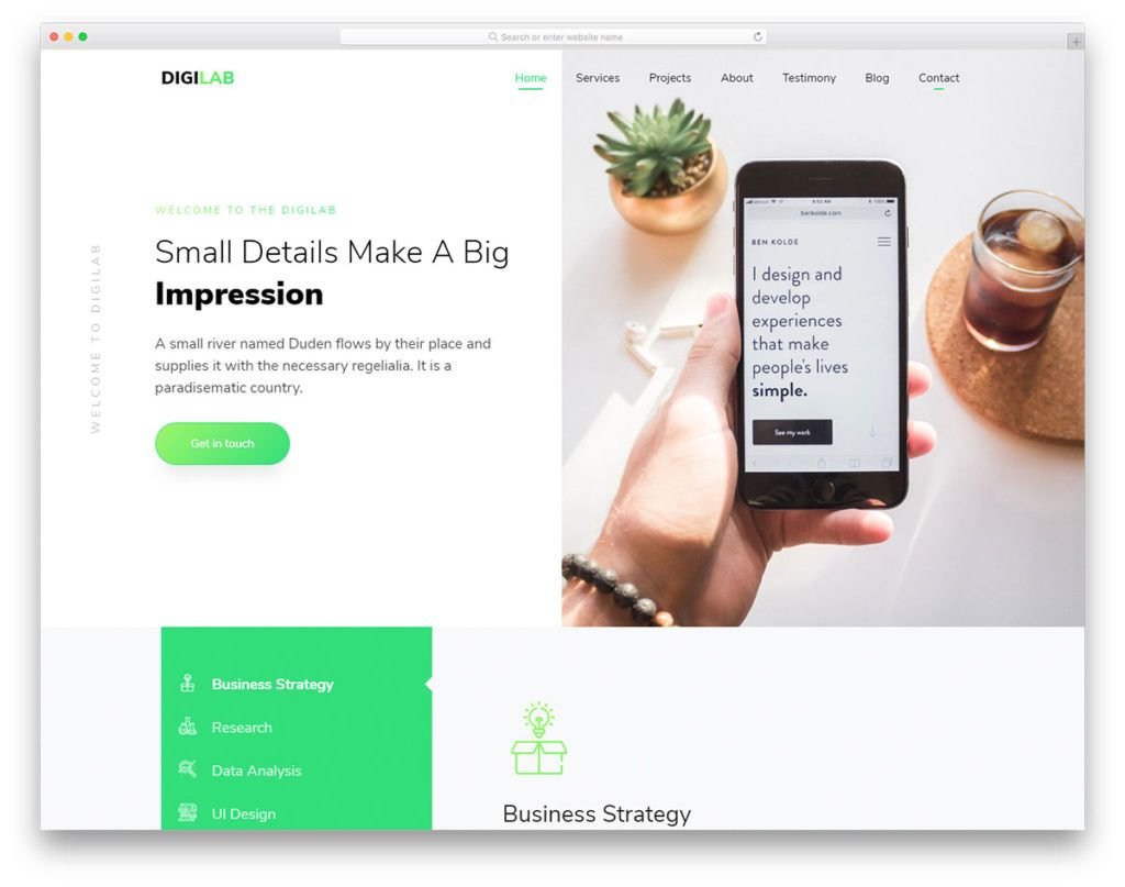 digilabfreetemplate 57+ Best Free Digital Agency HTML