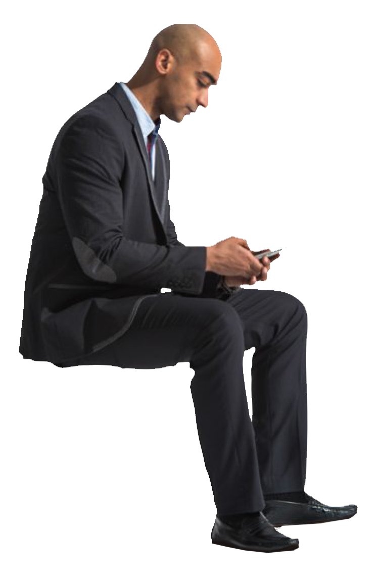 Cutout Man Sitting Phone With Images People Png People Cutout People Sitting Png
