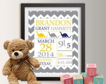 Personalized birth announcement personalized wall art with baby personalized birth announcement personalized wall art with baby stats new baby gift boy nursery decor car baby boy gift art print 003 negle Image collections