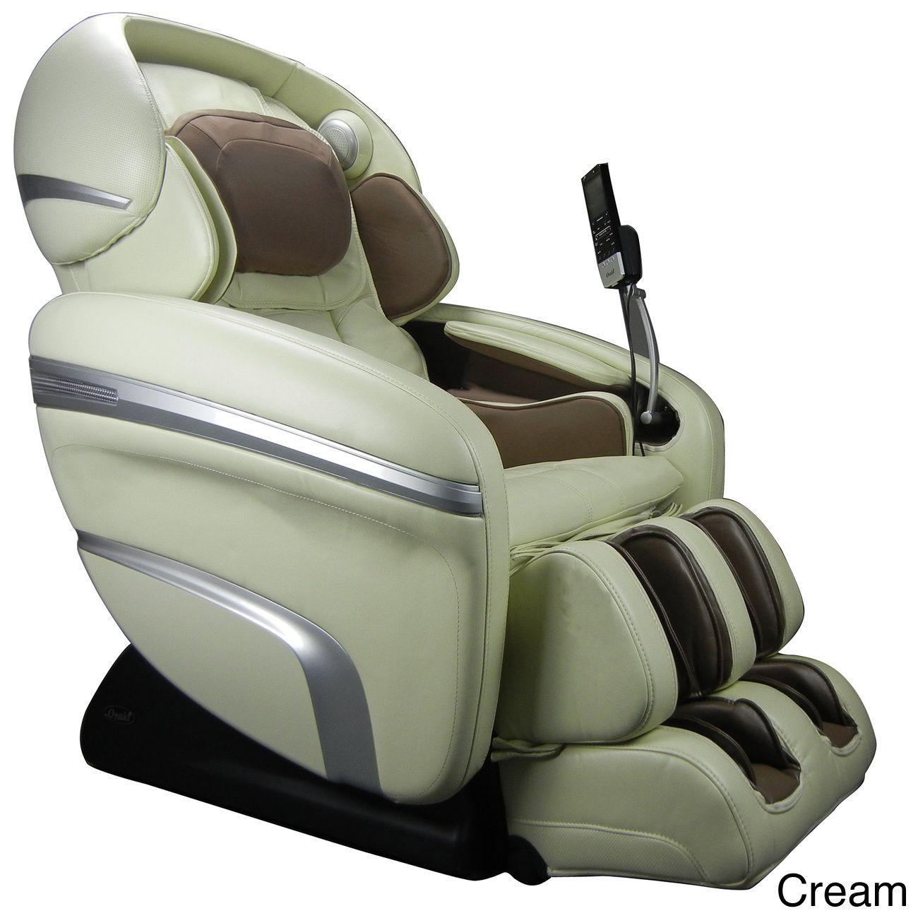 Osaki Os 7200cr Massage Chair Cream Ivory Faux Leather Massage Chair Feet Roller Hip Massage