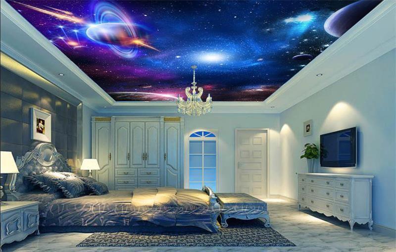3d Wallpaper Custom Photo Mural Non Woven Room Ceiling Wallpaper