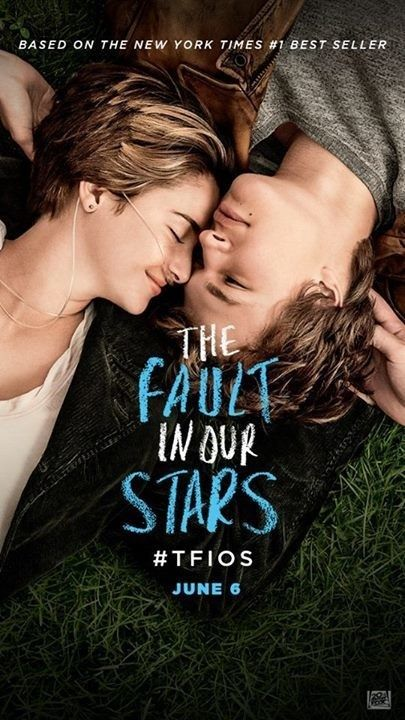 Not A Book But Based On A Book The Fault In Our Stars Movie Poster Film Romantis Film Romantis