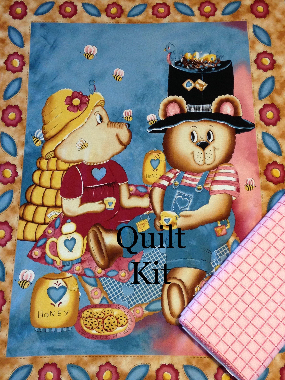 Teddy Bear Tea Party baby quilt