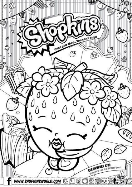 Find More Coloring Pages Online For Kids And Adults Of Shopkins D Lish Donut To Print